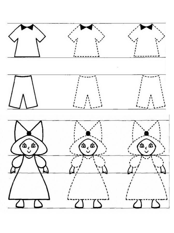 Картинки одежда по точками