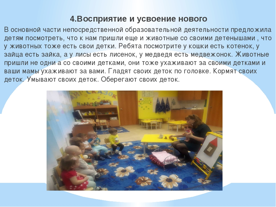 4.Восприятие и усвоение нового В основной части непосредственной образовател...