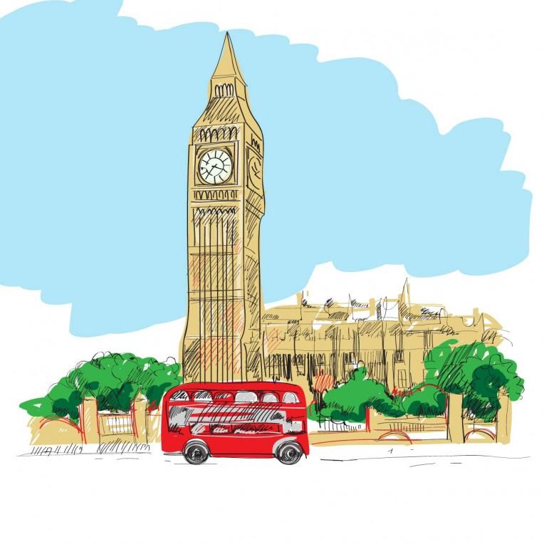 как нарисовать открытку великобритании вдохновения, интересных