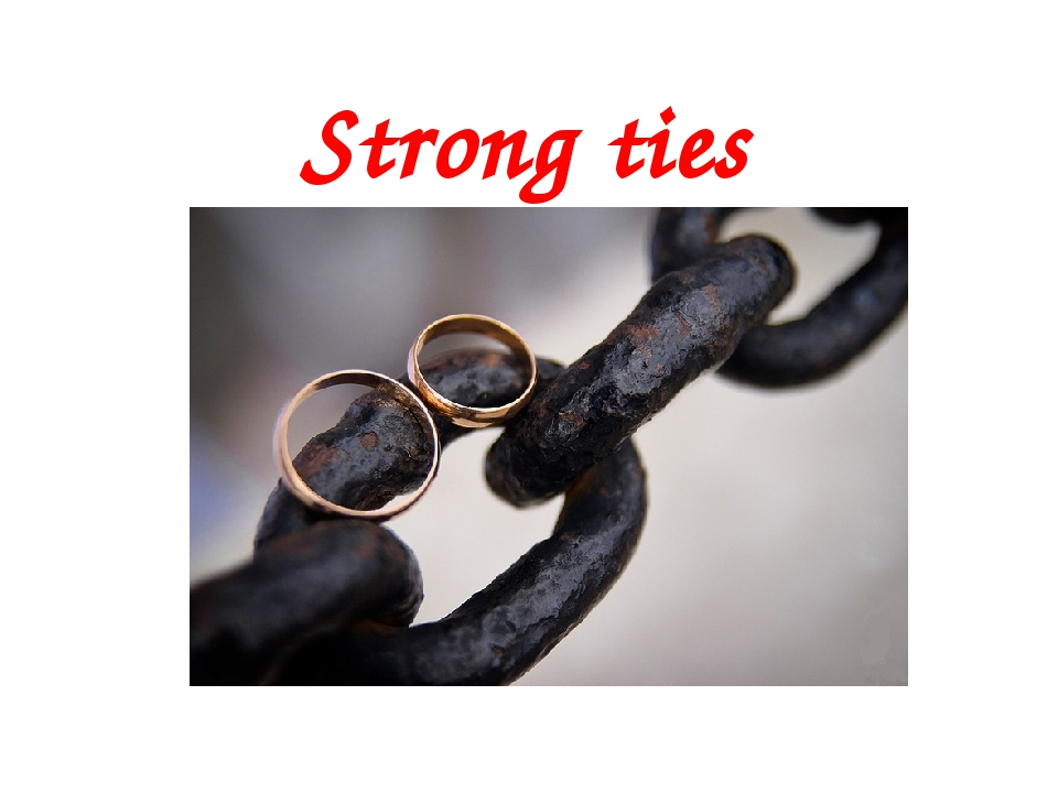Strong ties