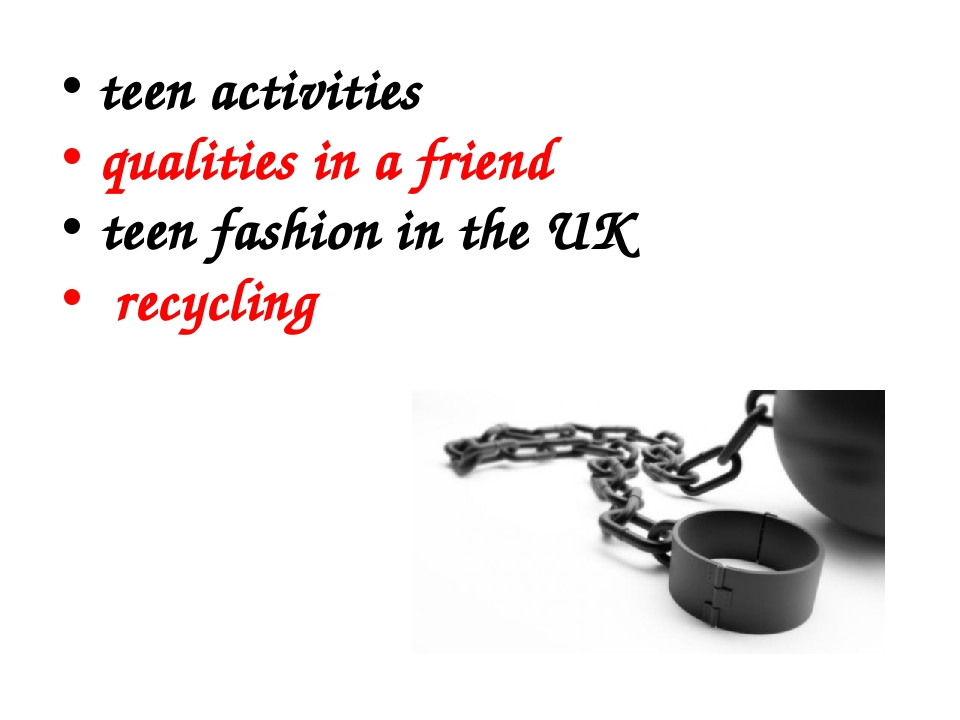 teen activities qualities in a friend teen fashion in the UK recycling