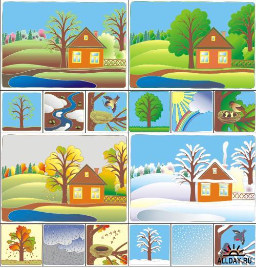 картинки для дидактической игры собери пейзаж начале