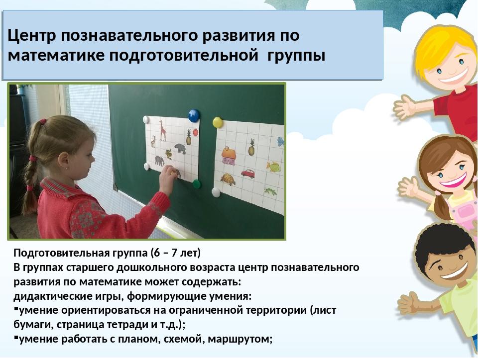 Центр познавательного развития по математике подготовительной группы Подготов...