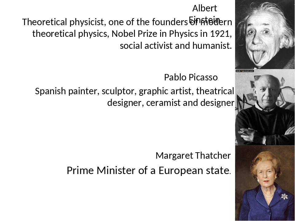 Albert Einstein Theoretical physicist, one of the founders of modern theoreti...