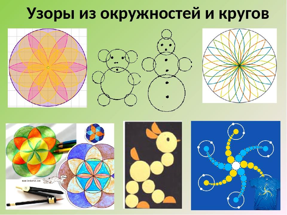 Узоры из окружностей и кругов