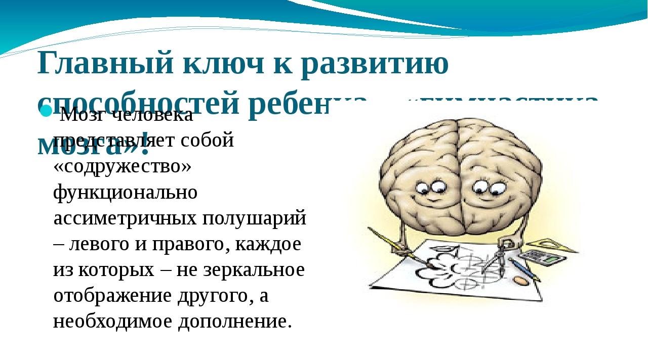 Главный ключ к развитию способностей ребенка – «гимнастика мозга»! Мозг челов...
