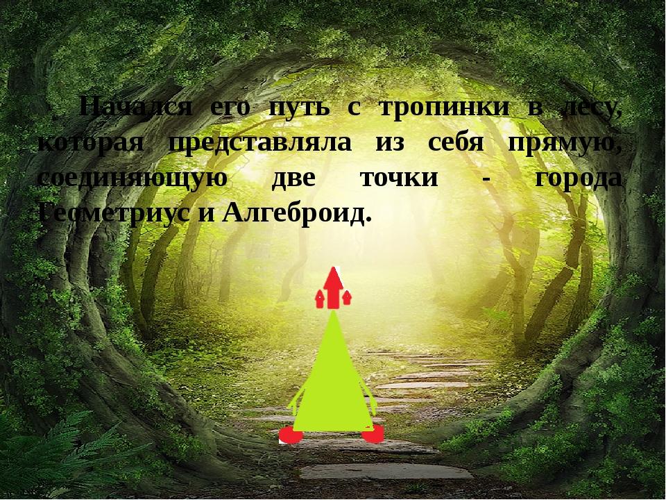 Начался его путь с тропинки в лесу, которая представляла из себя прямую, соед...
