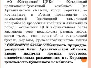АО «Котласский ЦБК» — «Котласский целлюлозно-бумажный комбинат» (юг Архангел