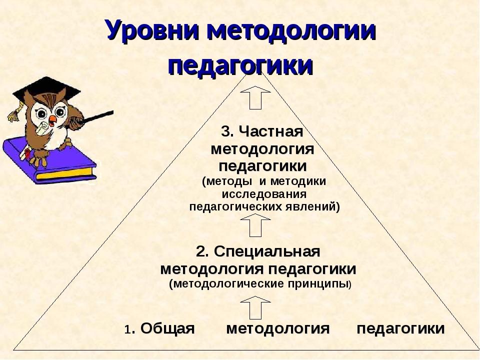 Уровни методологии педагогики 1. Общая методология педагогики 2. Специальная...