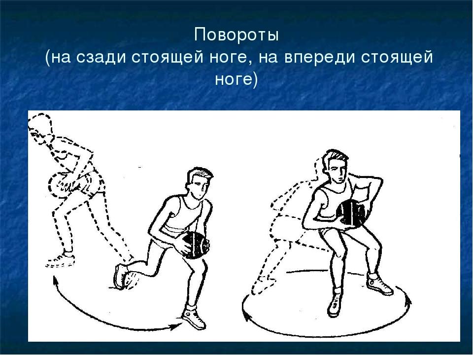 Повороты (на сзади стоящей ноге, на впереди стоящей ноге)