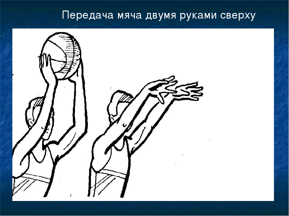 Передача мяча двумя руками сверху