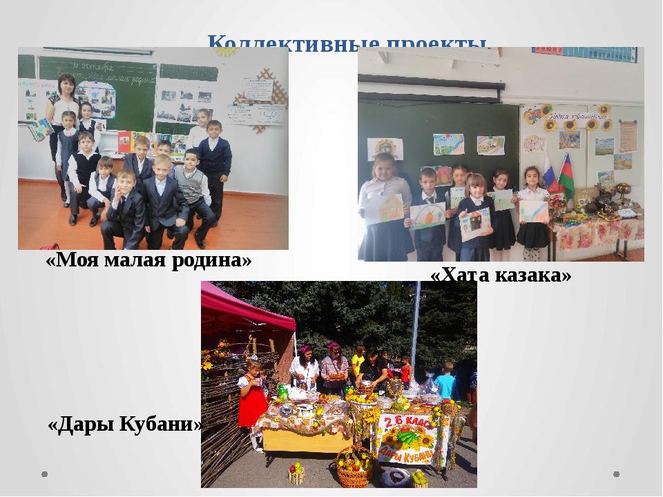 Коллективные проекты «Моя малая родина» «Хата казака» «Дары Кубани»