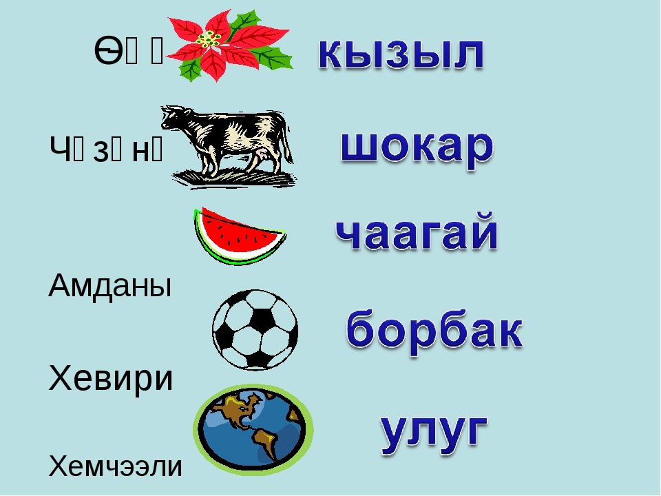 Ѳңү Чүзүнү Амданы Хевири Хемчээли