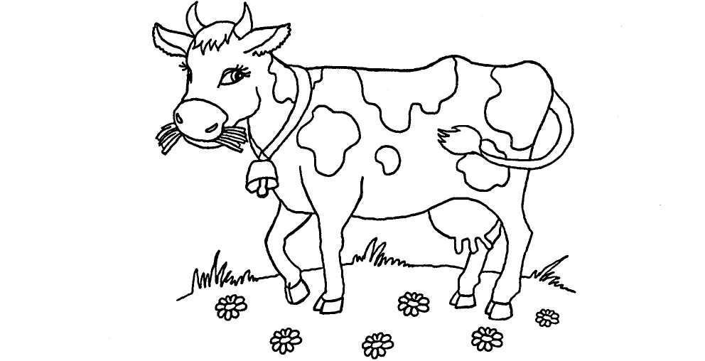 Картинки коровы черно белые, картинки днем