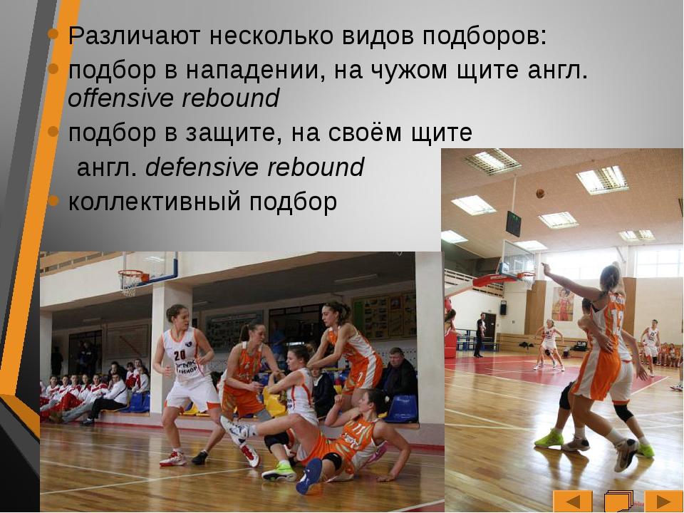 Для успешного подбора игроку необходимо заграждать путь соперника к кольцу с...