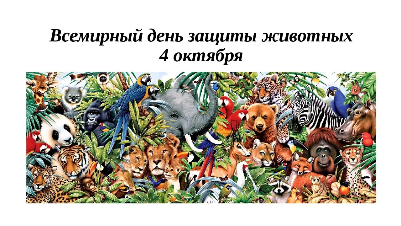Всемирный день защиты животных 4 октября