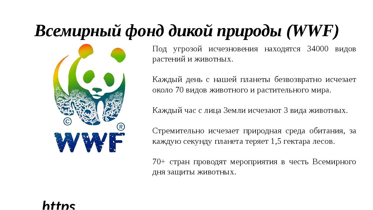 https://wwf.ru/ Всемирный фонд дикой природы (WWF) Под угрозой исчезновения...