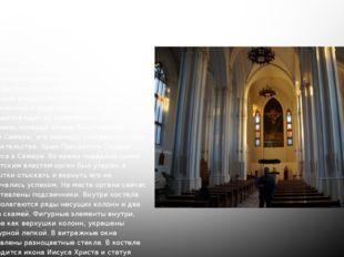 iv. Внутреннее убранство Храм Пресвятого Сердца Иисуса внутри достаточно скро