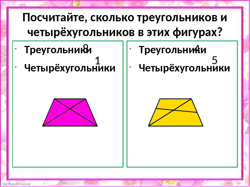 Геометрическая загадка Сколько треугольников вы видите?