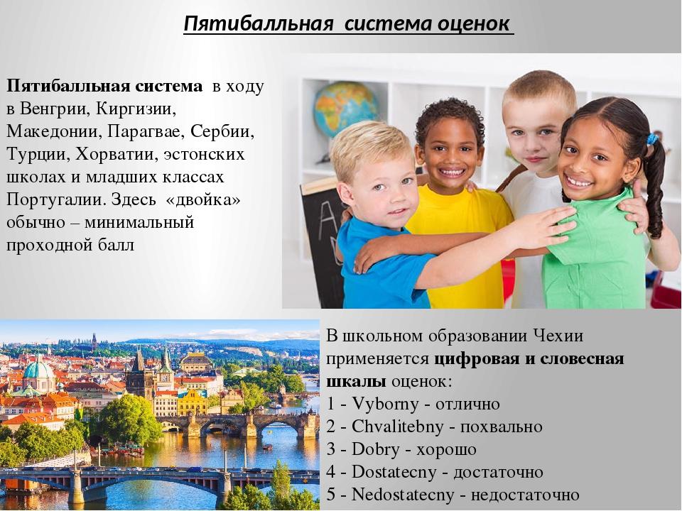 Пятибалльная система в ходу в Венгрии, Киргизии, Македонии, Парагвае, Сербии,...