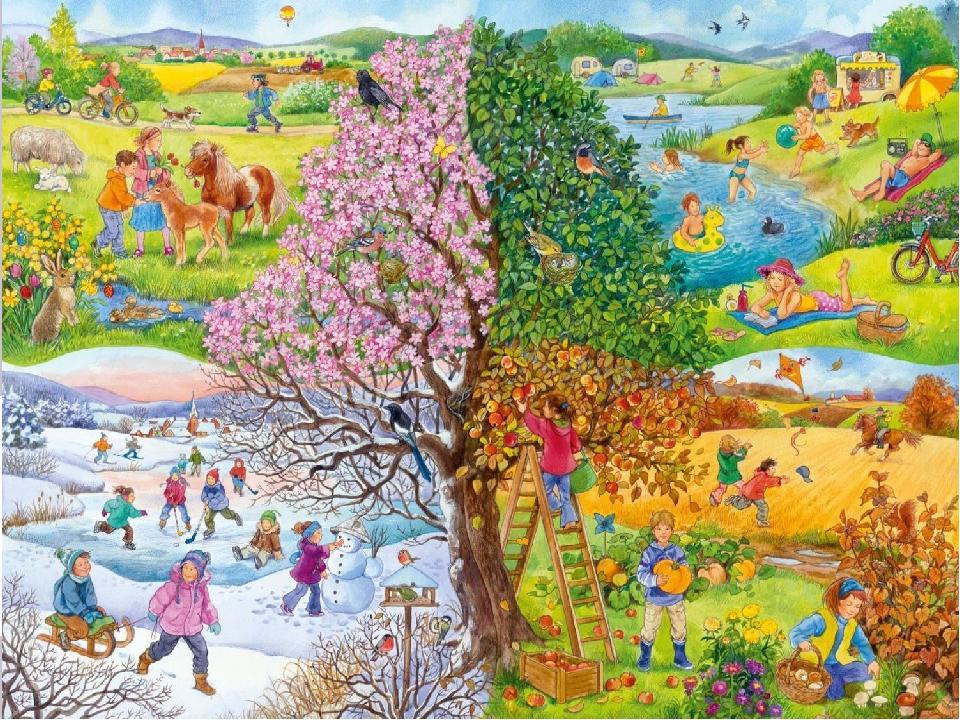 Картинки время года для детей детского сада