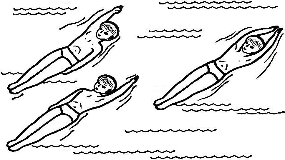 пусть упражнения для плавания в картинках заяц