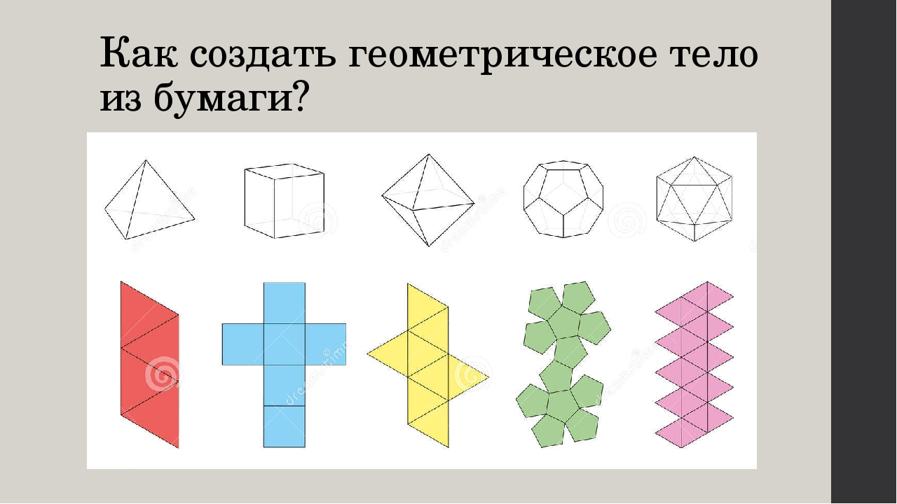 Как создать геометрическое тело из бумаги?