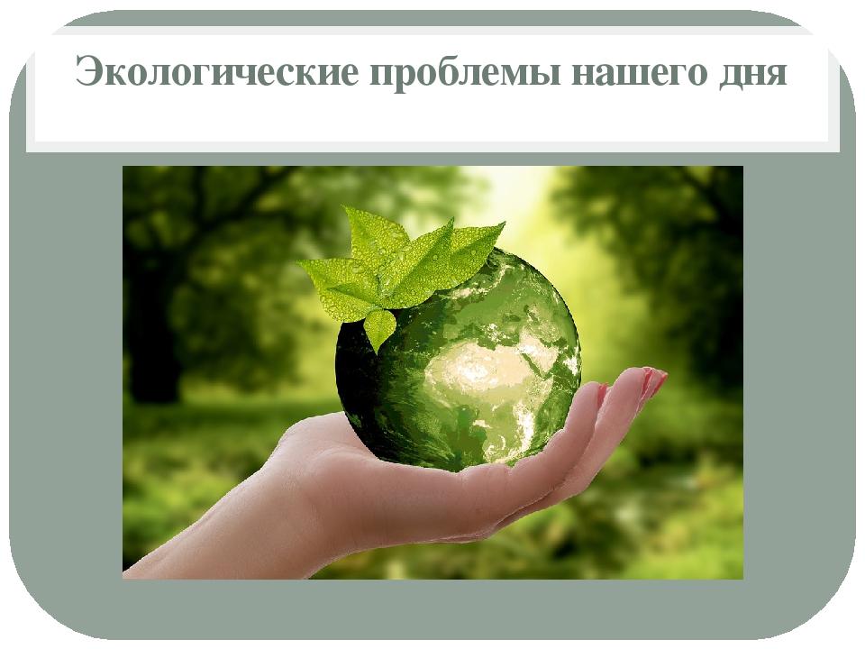 Экологические проблемы нашего дня
