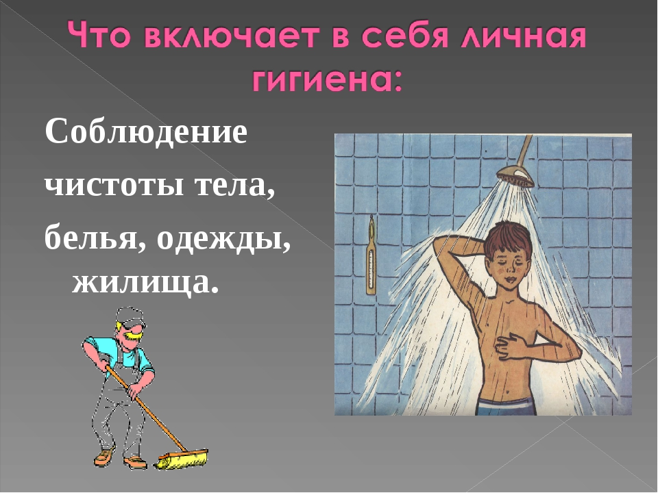 Соблюдение чистоты тела, белья, одежды, жилища.