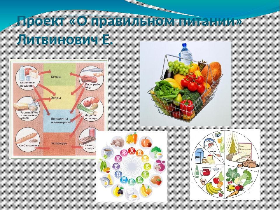 Проект «О правильном питании» Литвинович Е.