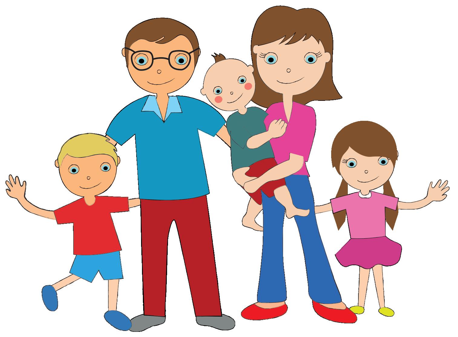 Мультяшные картинки семьи, мамы ребенком смешные