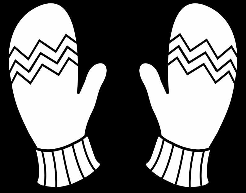 Рисунок рукавички с узором