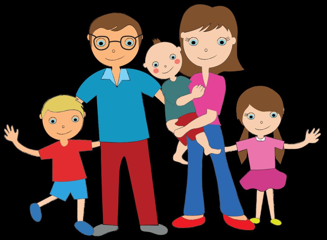 Картинка семья с детьми анимация
