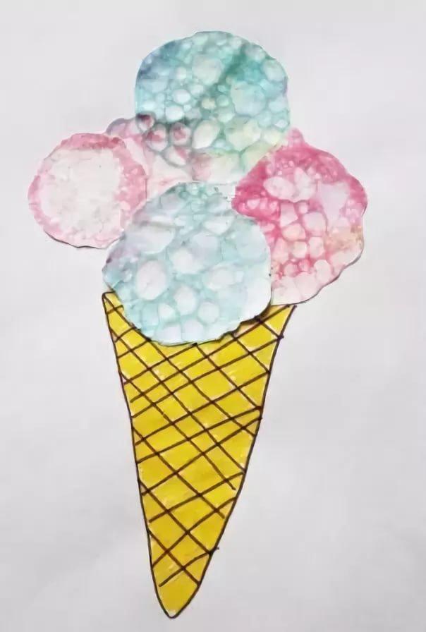 поэтапное рисование мыльными пузырями картинки фоне дождя