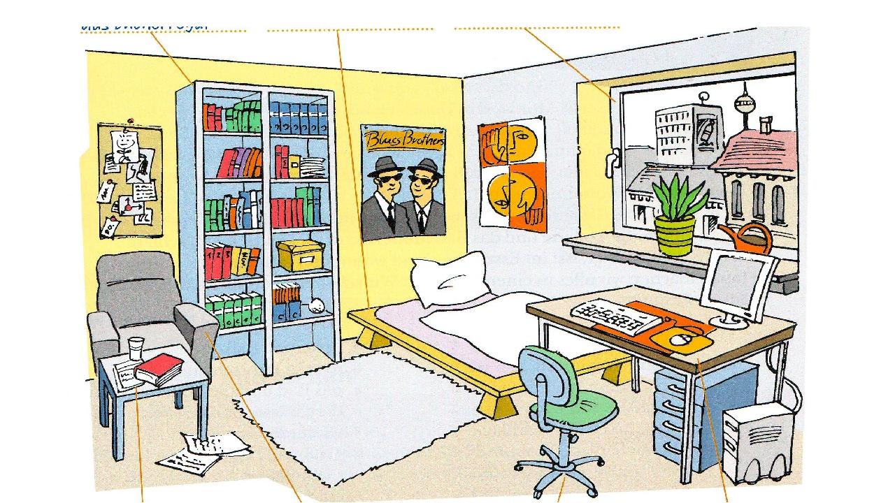 Описание в комнате картинки