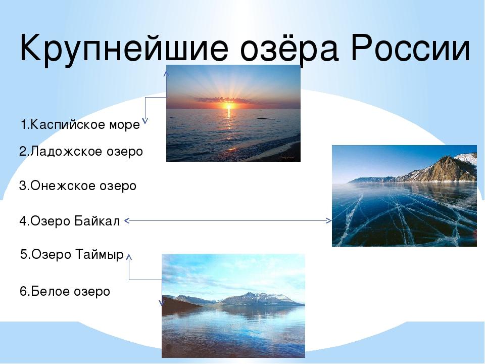 Озеро в россии название