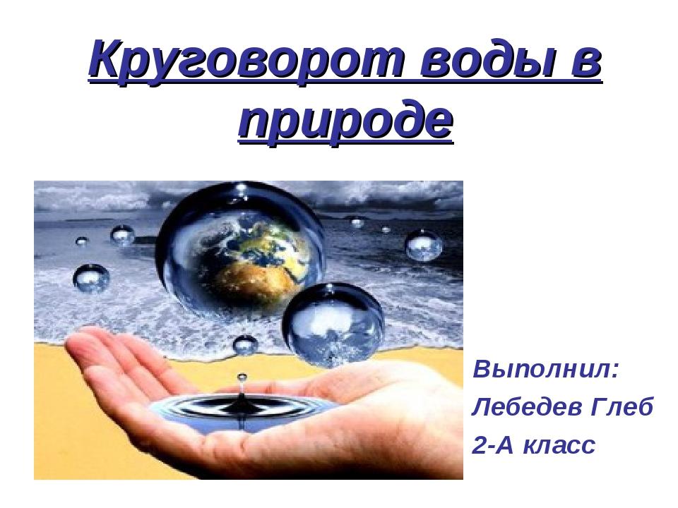 Круговорот воды в природе Выполнил: Лебедев Глеб 2-А класс