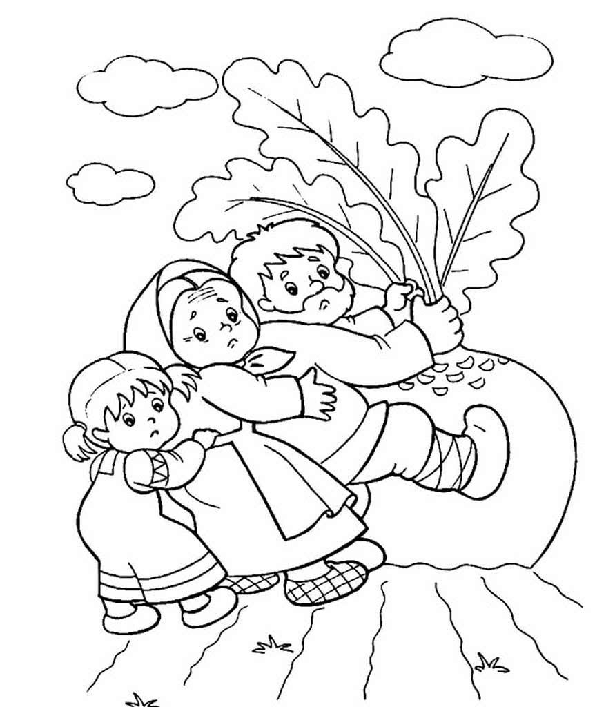 рисунки к сказке репка карандашом известный