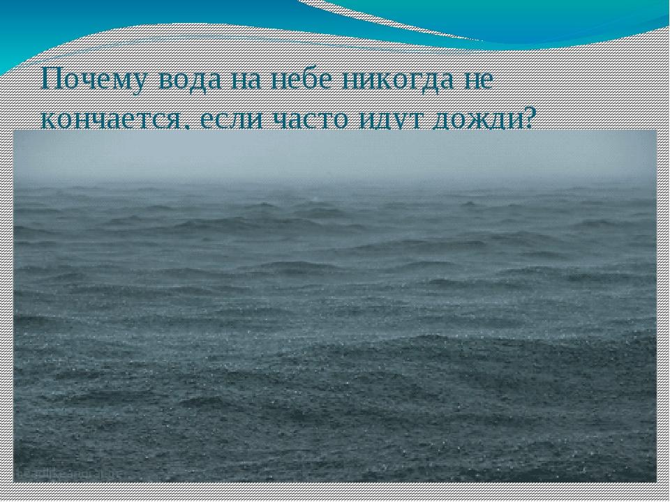 Почему вода на небе никогда не кончается, если часто идут дожди?