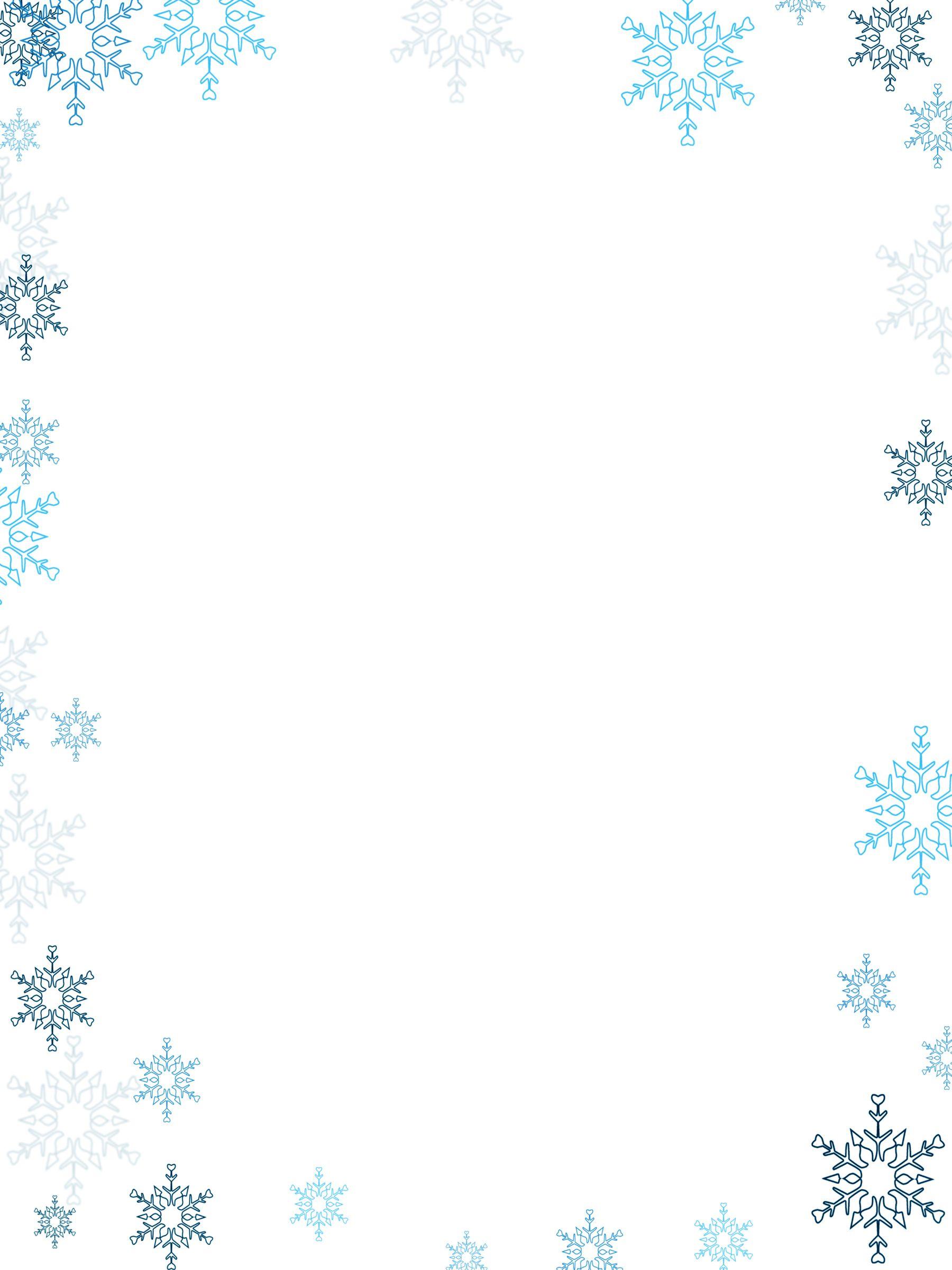 картинки рамок из снежинок людей