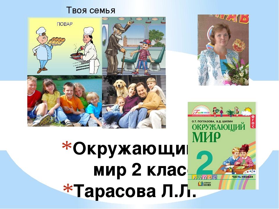 Окружающий мир 2 класс Тарасова Л.Л. Твоя семья