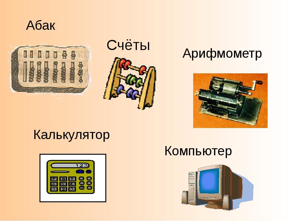 Абак Счёты Арифмометр Калькулятор Компьютер