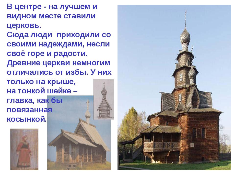 В центре - на лучшем и видном месте ставили церковь. Сюда люди приходили со с...