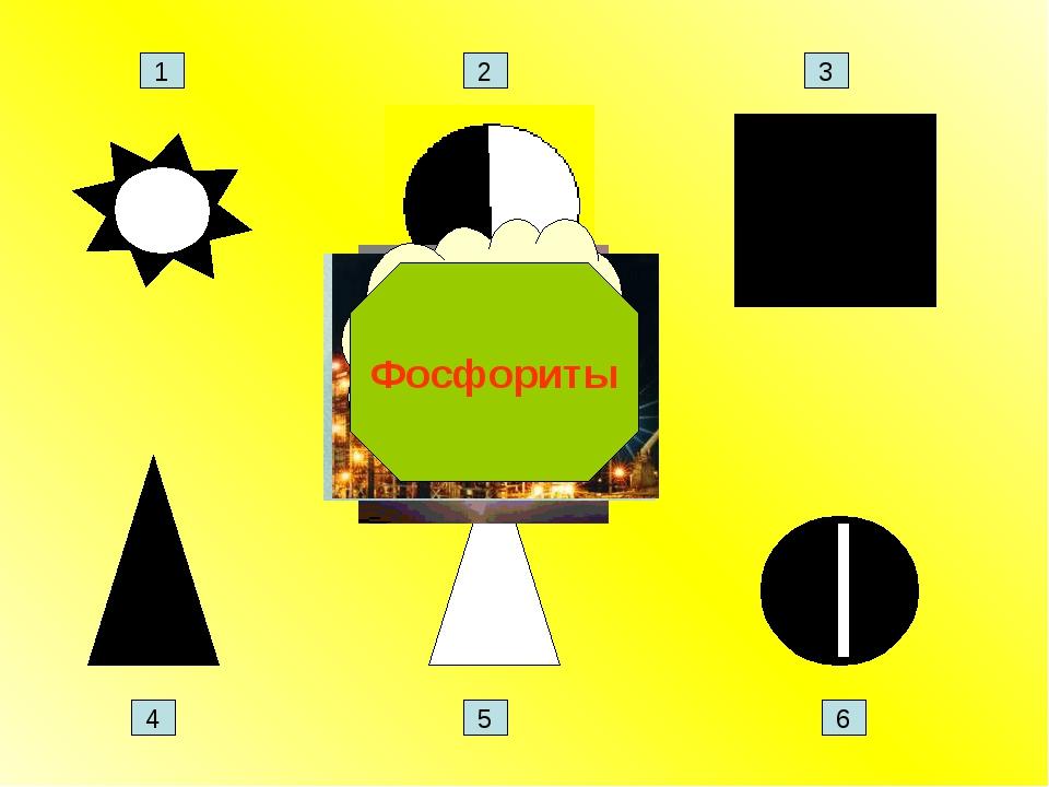 Природный газ Фосфориты 1 2 3 4 5 6