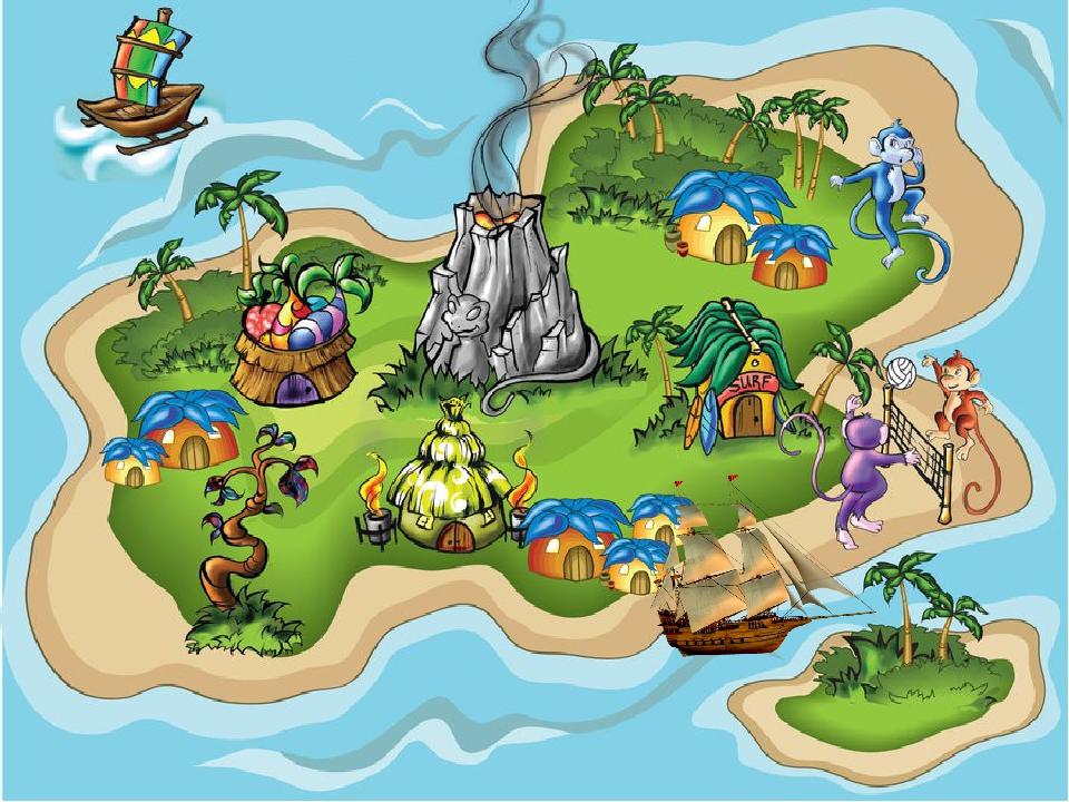 Сказочная карта для детей картинка