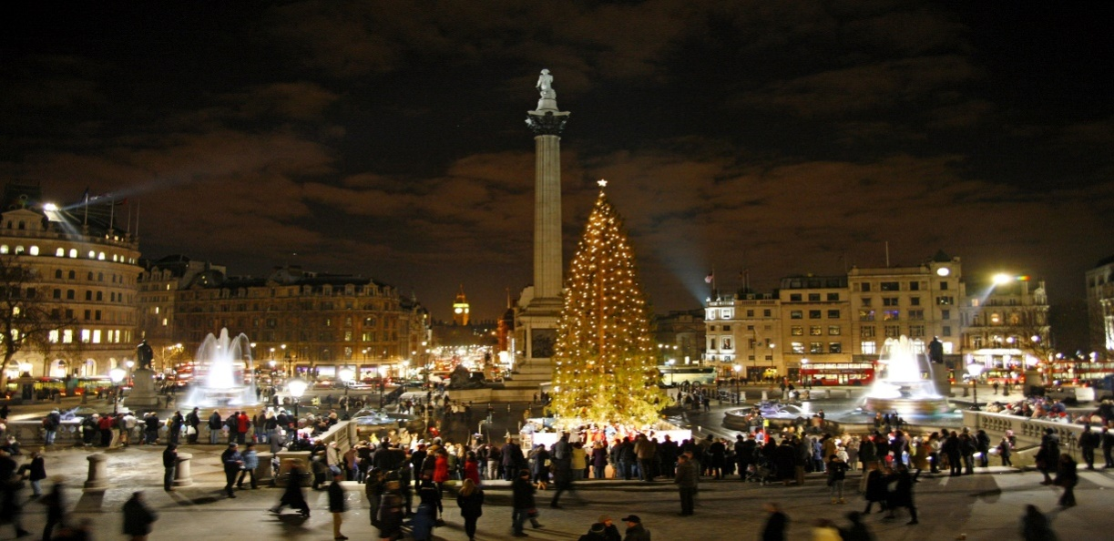 картинка рождественская елка в англии получилось