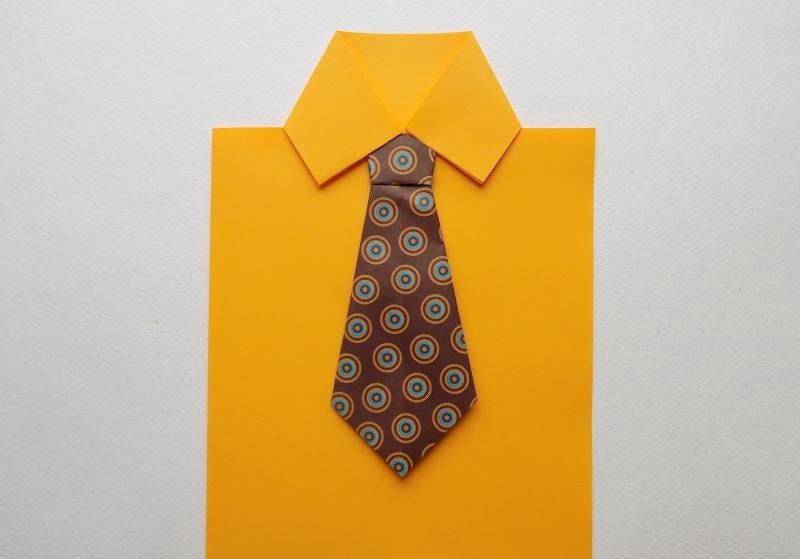 Открытка в виде рубашки с галстуком своими руками