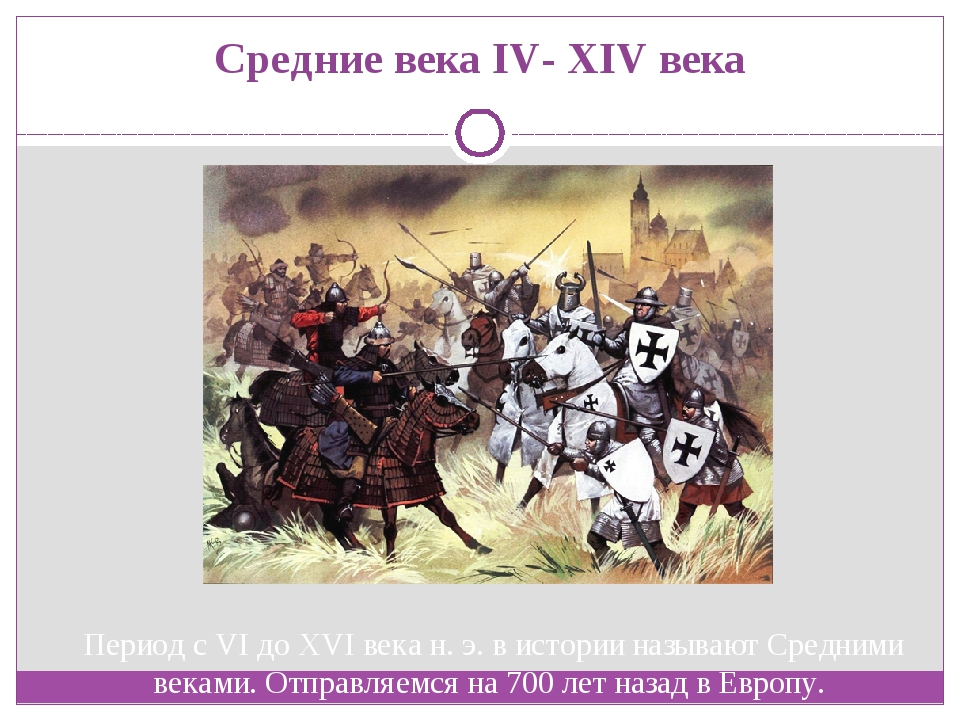 Средние века IV- XIV века Период с VI до XVI века н. э. в истории называют Ср...