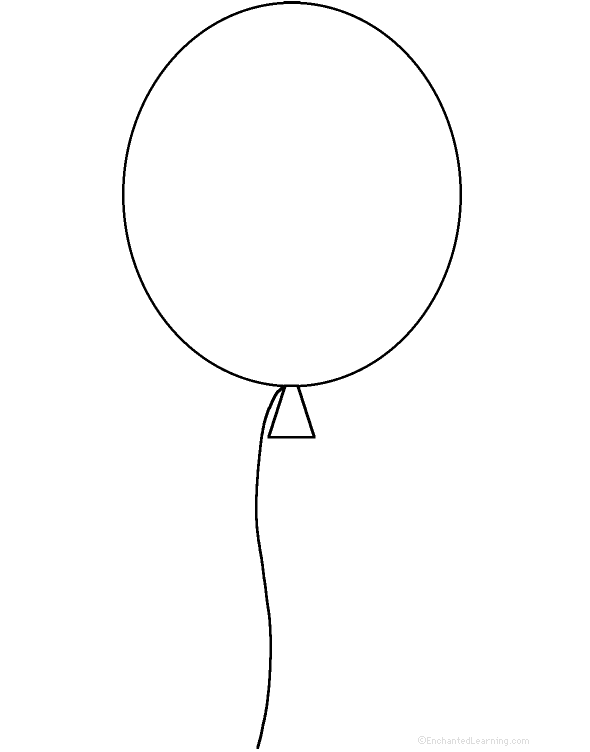 Воздушные шары картинки для детей раскраски
