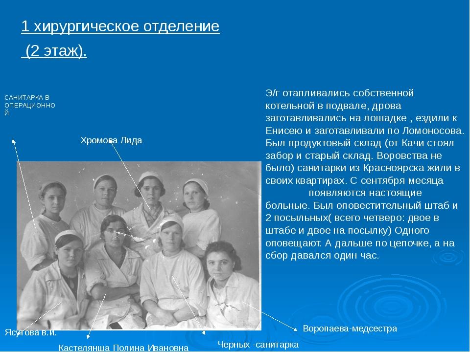 1 хирургическое отделение (2 этаж). САНИТАРКА В ОПЕРАЦИОННОЙ Хромова Лида Ясу...